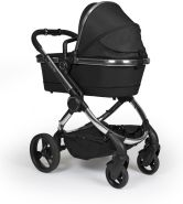 iCandy 'Peach' Kombikinderwagen 2020, Chrome-Black, inkl. Converter Base, 2te Babywanne, 2ter Sportsitz, Regenschutz, Ober und Unter Babyschaleadapter