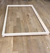 Erst-Holz Niederflurbett aus geölter Fichte 80x200 cm, natur