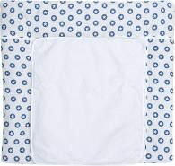 Schardt Wickelauflage mit abnehmbarer Frotteauflage, Circle Star blau 80 x 75 cm