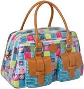 LÄSSIG Baby Wickeltasche Babytasche Kliniktasche Stylische Tasche Mama inkl. Wickelzubehör/Vintage Mero Bag, Flower Quilt