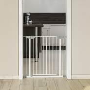 reer Tür- und Treppengitter, für Türbreiten 74 - 80,7cm, Klemmbefestigung, Metall, Weiß