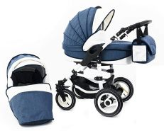 Tabbi ECO LN | 2 in 1 Kombi Kinderwagen | Hartgummireifen | Farbe: Blue