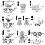 Friedrich Hugo Natureline Uni | 4 in 1 Kombi Kinderwagen | ISOFIX Set | Farbe: Elisabeth Silver
