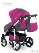 Camarelo Elf - Sportwagen Buggy - Gestell weiss Farbe XEL-4 pink/Gestell weiss