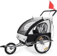 SAMAX 'Jogger 2in1' Fahrradanhänger schwarz/weiß/ Silver Frame