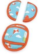 Priebes PHILIP Gurtpolster für Babyschale | praktischer Gurtschoner | waschbar bei 30 Grad | 100% Baumwolle | weich & bequem | Made in EU, Design:ballons aqua