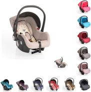 Cangaroo Babyschale Gala, Gruppe 0+ (0-13 kg), Sitzpolster, Fußabdeckung, Farbe:beige