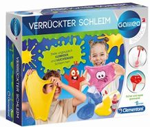 Clementoni 59173 Galileo Science – Verrückter Schleim, lustige Experimente mit klebrigen und leuchtenden Substanzen, Spielzeug für Kinder ab 8 Jahren, für kleine Chemiker