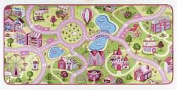 HANSE Home Kurzflor Kinderteppich Spielteppich Sweet Town(140x200 cm, 100% Polyamid, Rutschhemmende Rückenbeschichtung, Pflegeleicht, Fußbodenheizung geeignet), Rosa
