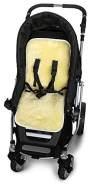 Odenwälder - Lammfellauflage für Kinderwagen, weiß