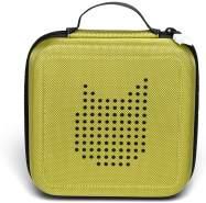 Tonies 'Tonie-Transporter' Transporttasche Grün, Box zur Aufbewahrung von bis zu 20 Tonies Hörfiguren, leicht, abwaschbar, Reißverschluss, 17,5 x 17,5 cm