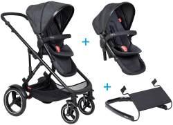 phil&teds voyager Kinderwagen - 3 für 1 Vorteilspaket black