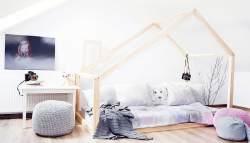Best For Kids Hausbett Bergen 90x160 natur