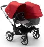 Bugaboo 'Donkey3' Geschwisterwagen 3 in 1 Rot/ Deep Black inkl. Babyschale