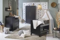 Schardt 'Miami Black' 3-tlg. Babyzimmer-Set, schwarz, 2-türiger Schrank