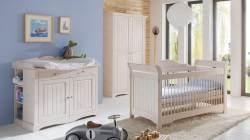 Steens 'LOTTA' 3-tlg. Babyzimmer-Set weiß/white wash