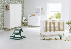 Pinolino 'Pan' 3-tlg. Babyzimmer-Set weiß, 3-türig