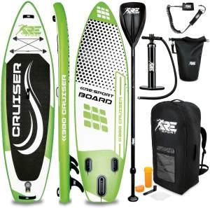 RE:SPORT® SUP Board 380cm Grün aufblasbar Stand Up Paddle Set Surfboard Paddling Premium