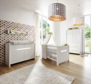 Schardt 'Poppy White' 3-tlg. Babyzimmer-Set