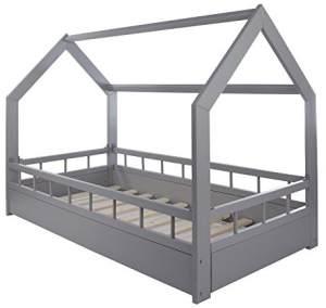 Velinda Hausbett mit Absturzsicherung 80x160 grau