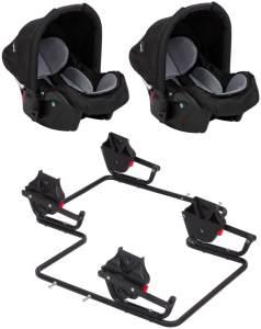 Zekiwa 2 Babyschalen mit Adapter für Twins Special