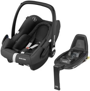 Maxi-Cosi 'Rock' Babyschale inkl. Familyfix2 Essential Black