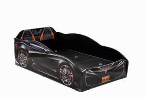 Cilek 'Spyder' Autobett schwarz inkl. Matratze