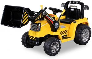 Toys Store Kinder Elektroauto, Traktor Kinderauto Elektrobagger 2x35W, gelb, ab 3 Jahren