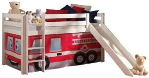 Pino Spielbett Weiß lackiert 90x200 cm Feuerwehr Basic
