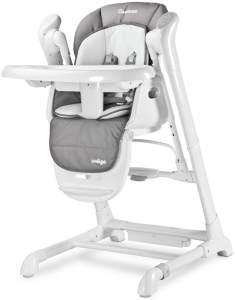 Hochstuhl Kinder Caretero Indigo Premium DeLuxe 2in1 Kinderhochstuhl Babywippe Grau