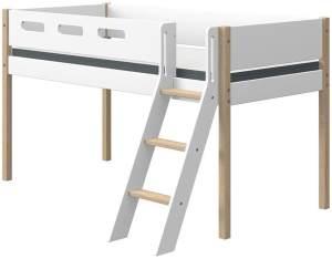 Flexa 'Nor' Halbhochbett mit schräger Leiter 90 x 190 cm