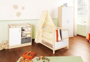 Pinolino 'Florian' 3-tlg. Babyzimmer-Set beige/weiß