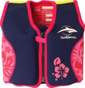 Konfidence Schwimmweste - Design: Pink/hibiscus, Größe: 16-21 kg