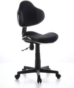 hjh OFFICE 634120 Kinder Schreibtischstuhl KIDDY GTI-2 Stoff Schwarz/Grau ergonomischer Jugenddrehstuhl höhenverstellbar
