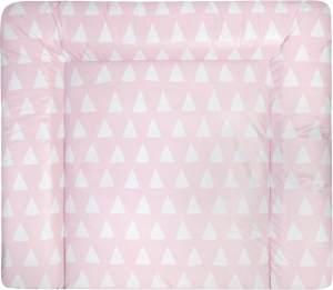 Julius Zöllner Wickelauflage Softy Triangel pink, 75x85 cm