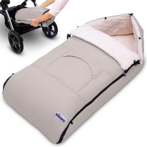 KIDUKU® Babyfußsack Beige Baby Winterfußsack Kinderfußsack Fußsack Winter Kinderwagen Buggy