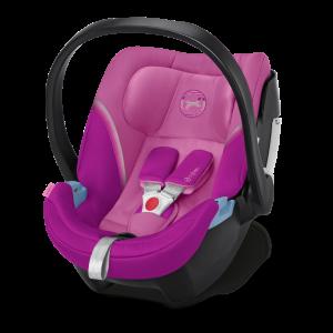CYBEX 'Aton 5' Babyschale 2020 Magnolia Pink von 0 bis 13 kg (Gruppe 0+) Isofix