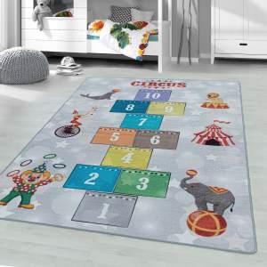 Kinderzimmer Kinderzimmerteppich 100x150 Grau