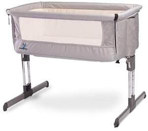 Caratero-3951 Beistellbett SLEEP2GETHER grau
