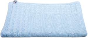 Baby´s Only Strickdecke 'Cable' hellblau, 70x95 cm