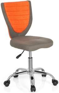 hjh OFFICE 670620 Kinder-Schreibtischstuhl KIDDY COMFORT Filzbezug Grau/Orange Jugend Bürostuhl höhenverstellbar