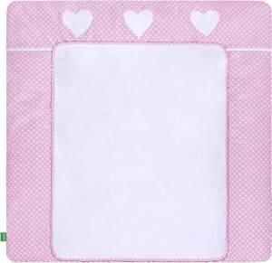 LULANDO 'White Dots/Pink' Wickelauflage 75 x 85 cm weiß/rosa