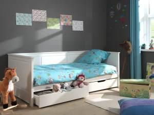 Vipack Kojenbett 'Pino' mit 2 Bettschubladen weiß, 90 x 200 cm
