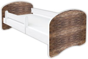 Clamaro 'Schlummerland Dekor' Kinderbett 80x180 cm, Design 14, inkl. Lattenrost, Matratze und Rausfallschutz (ohne Schublade)