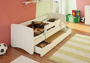 Best For Kids Kinderbett 80x160 mit Rausfallschutz, weiß