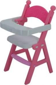Besttoy - Hochstuhl für Puppen - pink-weiß - aus Kunststoff - ca. 29 x 49 x 29 cm