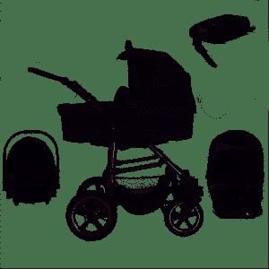 Bebebi London - Isofix Basis und Autositz - 4 in 1 Kinderwagen Set Westminster Air Wheels
