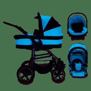 Bebebi London - 3 in 1 Kinderwagen Set Piccadilly Air Wheels