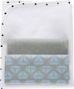 MOTHERHOOD Baby Wickelunterlage wasserdicht und luftdurchlässig inkl. 2 Moltonunterlagen aus 100 % Baumwolle, Schiffe blau