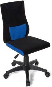 hjh OFFICE 670510 Kinderschreibtischstuhl KIDDY PRO Stoff Schwarz/Blau ergonomischer Jugend-Drehstuhl, höhenverstellbar